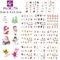 11 листов/КОМПЛЕКТ BJC023-033 cat дизайн ногтей Gitter Рождество ногтей наклейки наклейки воды наклейка для водные наклейки nail art наклейки