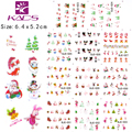 11 hojas/foro BJC023-033 cat nail design Gitter Navidad nail sticker calcomanías de agua nail art sticker calcomanías de agua pegatinas