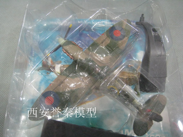 AMER 1/72 Scale Military Model Toys World War II Britain Spitfire Fighter Diecast Metal Plane Model Toy For Collection/Gift