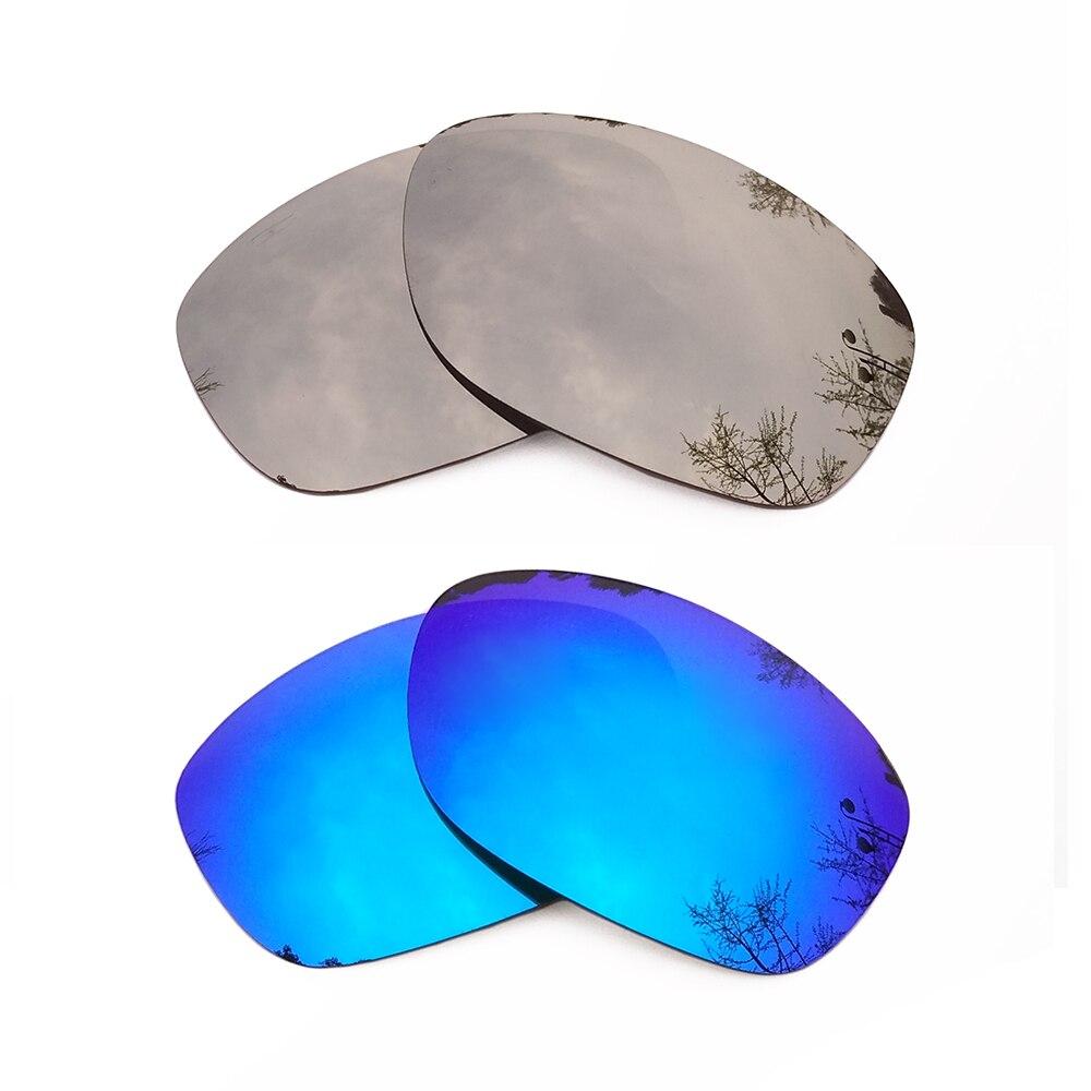 Серебряные зеркальные и голубой лед зеркальные Поляризованные замены линзы для Pit Bull кадра 100% UVA и UVB