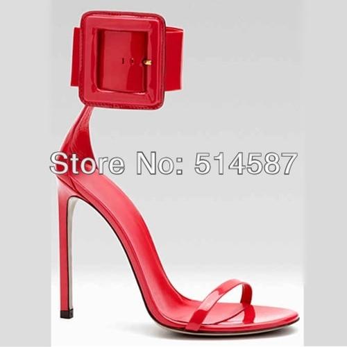 Aliexpress.com : Buy Summer women ankle buckle pump sandals patent