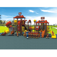 2017 Fire Series Big Play Structure Amusement Park Outdoor Playground For Kids YLW OUT1656