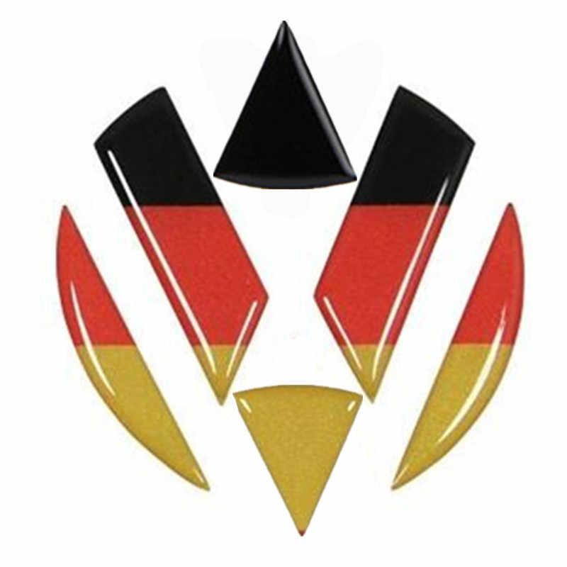 Allemagne drapeau autocollant volant voiture autocollant VW emblème avant arrière Logo pour Volkswagen Golf 6 7 Polo coccinelle Touran Passat CC R36