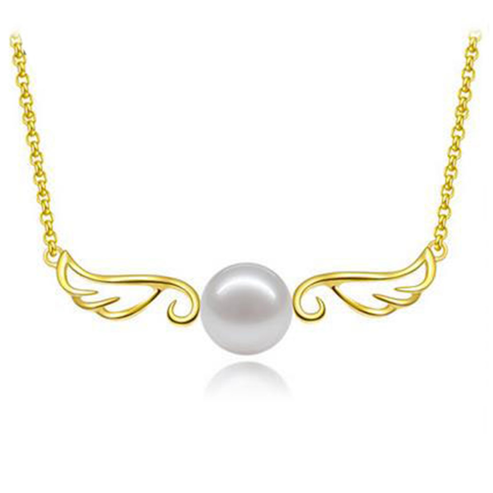 8-9mm New Fresh Water Pearls Necklaces Pendants Women Silver Color Trendy Pearl Pendant Necklace Elegant Bijoux Gifts