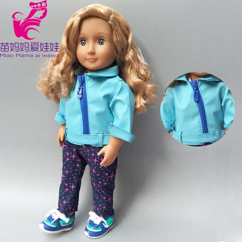 """18 """"Кукла Одежда Комплект со штанами для 43 см родился bebe кукольный наряд для 38 см для новорожденных жакет для куклы"""