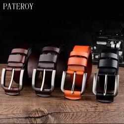 [PATEROY] ceintures de Designer hommes Ceinture en cuir de haute qualité hommes Jeans Cinturones Hombre Ceinture Homme Cinto Luxe Marque Kemer Casua