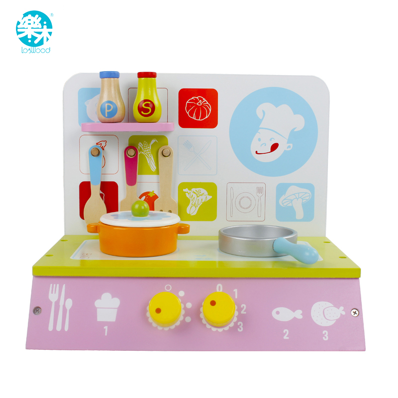 Wooden baby Kitchen Toys pretend play cutting cake Play Food Kids ...