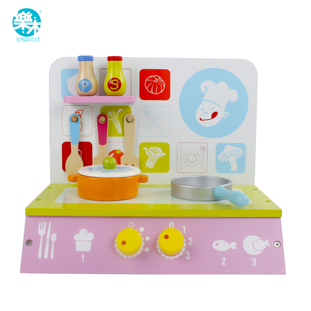 Baby Wooden Kitchen Toy Set Kid Girls Children Cooking Play Kitchen Set  Educational Wooden Toys Kids
