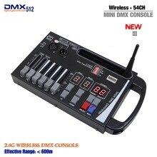 Dhl 무료 배송 새로운 도착 휴대용 새로운 시스템 미니 무선 dmx 컨트롤러 배터리 무대 조명 또는 이동 rgb 램프