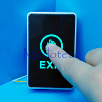 Não/nc/com backlight led botão de saída de toque montagem na parede botão de saída interruptor de liberação da porta para o sistema de controle acesso barato