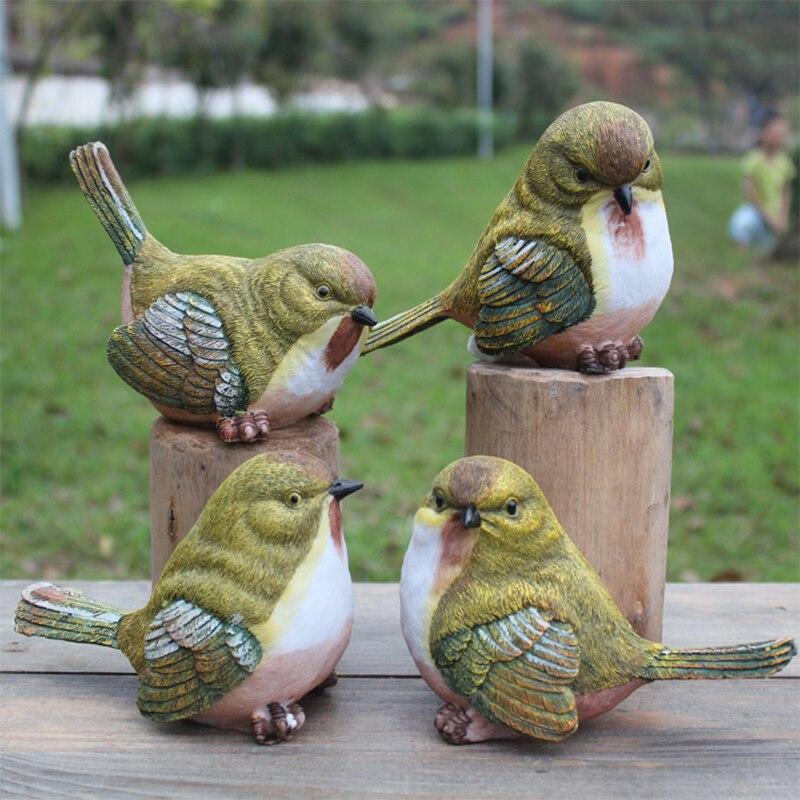 Jardín de Aves Urraca Juguetón Estatua Artificial Pájaro Pájaro de la Resina de