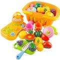 14 Pçs/set Corte De Plástico de Frutas Legumes Cozinha de Brinquedo Desenvolvimento Precoce e Educação Brinquedos para o Bebê Crianças Crianças