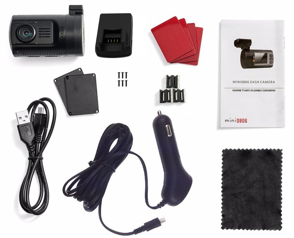 Conkim Ambarella A7 tableau de bord caméra Mini 0806s voiture DVR avec GPS 1296P 1080P Full HD Auto enregistreur vidéo Super condensateur voiture caméra GPS - 6