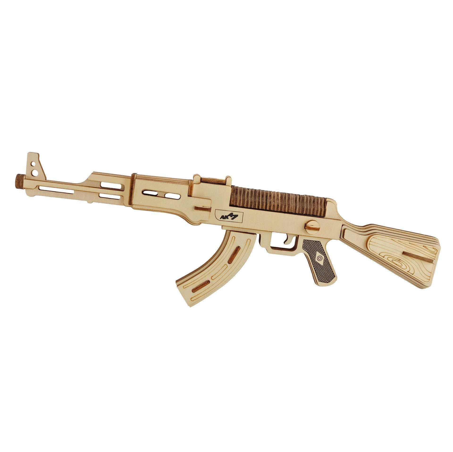 DIY AK47 Submachine Gun Model 3d Three-dimensional Wooden Puzzle Toy Gun For Children Diy Handmade Laser Cutting