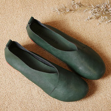 Cowhide Flat Women's Shoes
