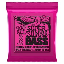Ernie Ball 2834 Super Slinky Roundwound Bass Guitar Strings 045-100