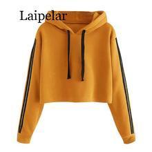 Laipelar hoodies women Striped Long Sleeve Hoodie Sweatshirt Jumper Hooded Pullover harajuku hoodie sweatshirt cut and sew striped knot sweatshirt