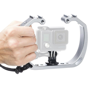 Image 4 - Aluminum Diving Photography Bracket Frame Mount Kit for GOPRO HERO 3+ 4 5 Session yi Action Camera Dive Fill Light Accessory