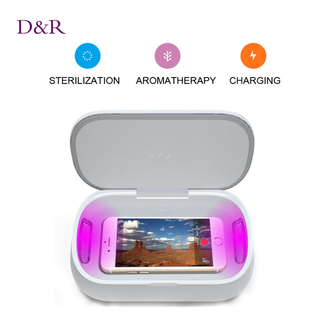 Multifunctional UV Light Mobile Sterilizer Fragrance Cell Phone Disinfector Sterilization Device Disinfection Box Christmas Gift