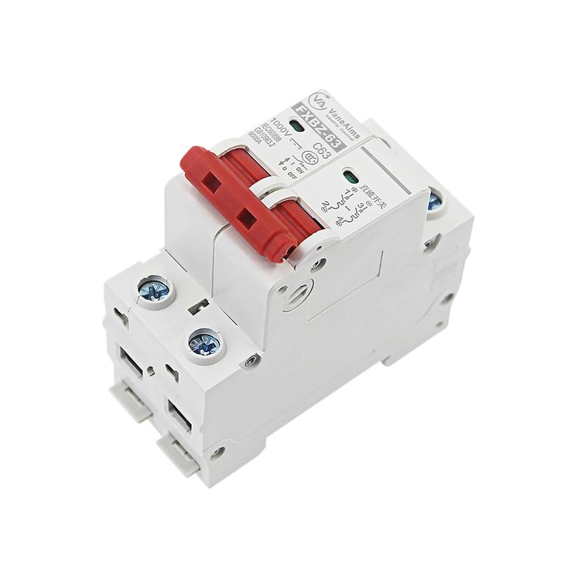 IP20 Breaker Trennschalter 2P Solar 10A//16A//32A// 50A//63A Dc.photovoltaic