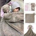 76x76 cm Cobertores Do Bebê Recém-nascidos Macio Morno do Velo do Inverno Do Bebê Da Menina do Menino Presente de Aniversário de Pelúcia Brinquedo Animal Cabeça cobertor do bebê swaddle