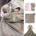 76x76cm Baby Blankets Winter Baby Boy Girl Birthday Gift Newborn Soft Warm Fleece Plush Animal Toy Head baby swaddle blanket