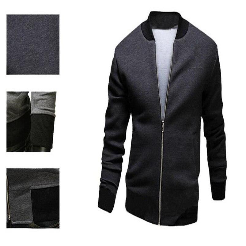 5762ce8de405f 2016 merek mens musim semi musim panas tipis jaket pria kasual Slim fit  padat jaket bomber jaket chaqueta hombres jaqueta ukuran besar di Jaket  dari Pakaian ...