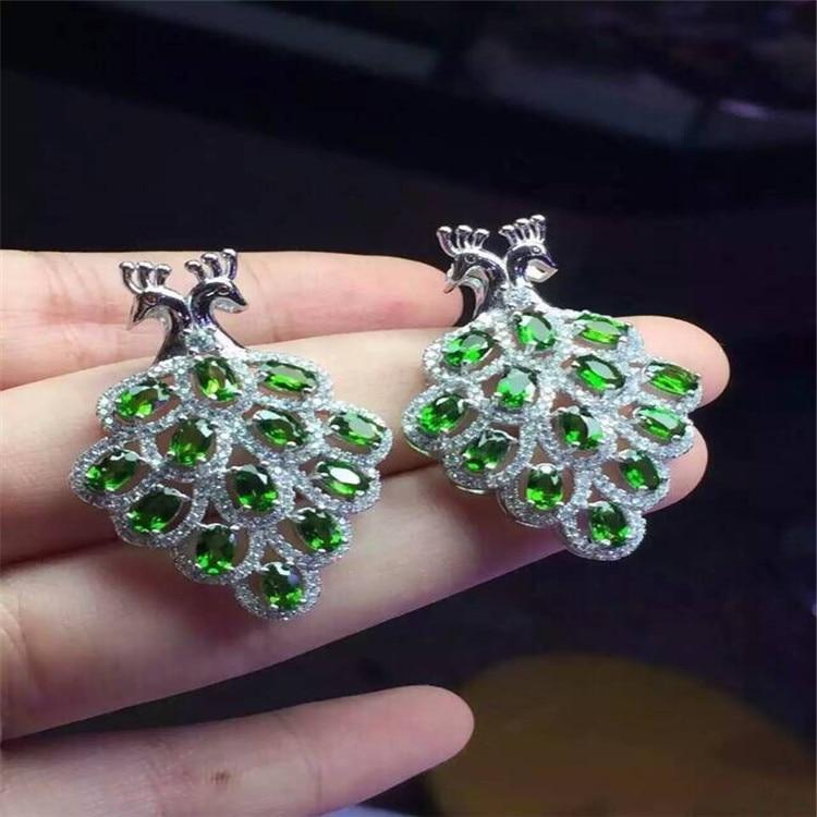 KJJEAXCMY boutique bijoux 925 pur argent naturel diophane diamant pendentif collier incrusté de phoenix micro-incrustation bijoux - 3
