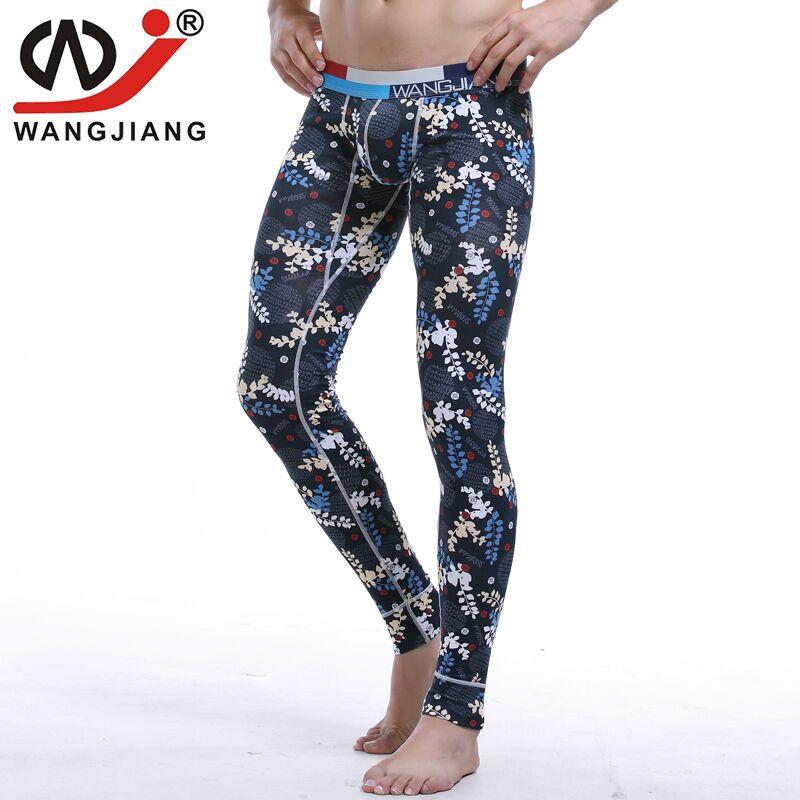 Men Cotton Underwear Long Johns Sexy Plaid Print Penis Pouch Gay Cargo Pants For Men Trousers