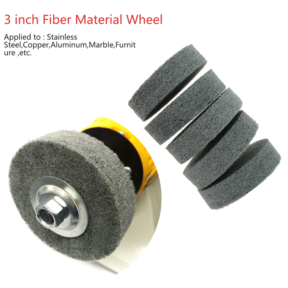Original Imported Iron Instrument Grinding And Polishing 75*19*10mm Nylon Wheel Fiber Wheel Suitable For Dremel Tools