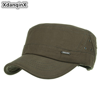 XdanqinX Adjustable Size Spring Summer Adult Men's Cotton Military Hats Outdoors Casual Fashion Balaclava Cap Vintage Dad's Hat