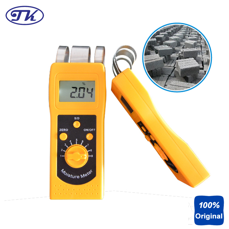 NEWE High Quality Digital Moisture Gauge Portable Moisture Meter Textile Moisture Tester DM200T mc 7806 digital moisture analyzer price with pin type cotton paper building tobacco moisture meter