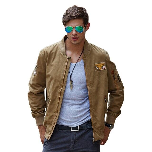 New Spring Autumn Military Style Bomber Jacket Men Coat Casual