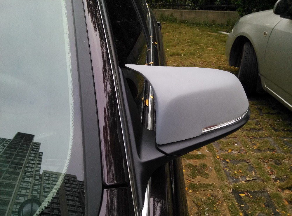 F30 M3 Style FRP Primer Rearview Mirror Cover Caps For BMW F30 Sedan 2013-2015