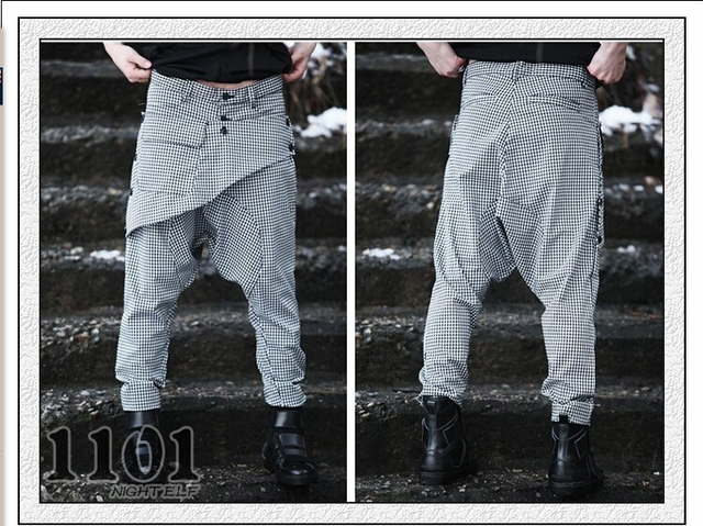 27 - 42 dos homens quentes vender casual harem pant estilo coreano pés pant hip pop de personalidade dos homens pant calças cantores pant frete grátis