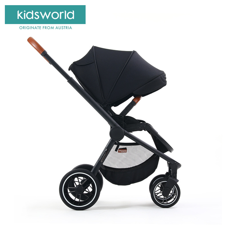 lightweight Baby stroller folding can sit reclining high landscape two-way baby child hand push umbrella car