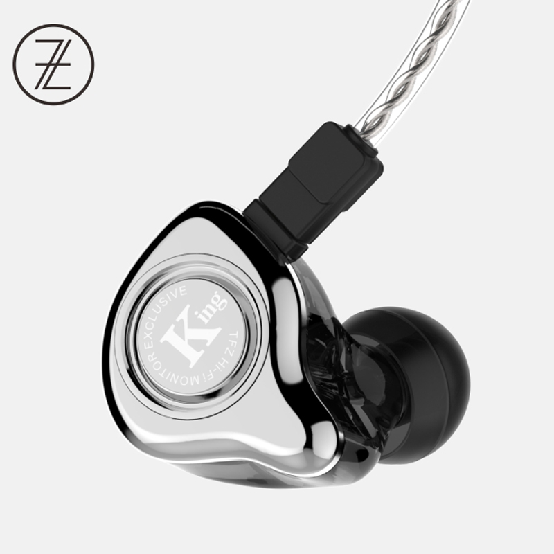 TFZ EXCLUSIVE KING HIFI The Fragrant Zither Monitor In Ear Sports Earphone Customized Dynamic DJ Earphone tfz hifi monitor exclusive king experience version hifi in ear earphones iems detachable cable