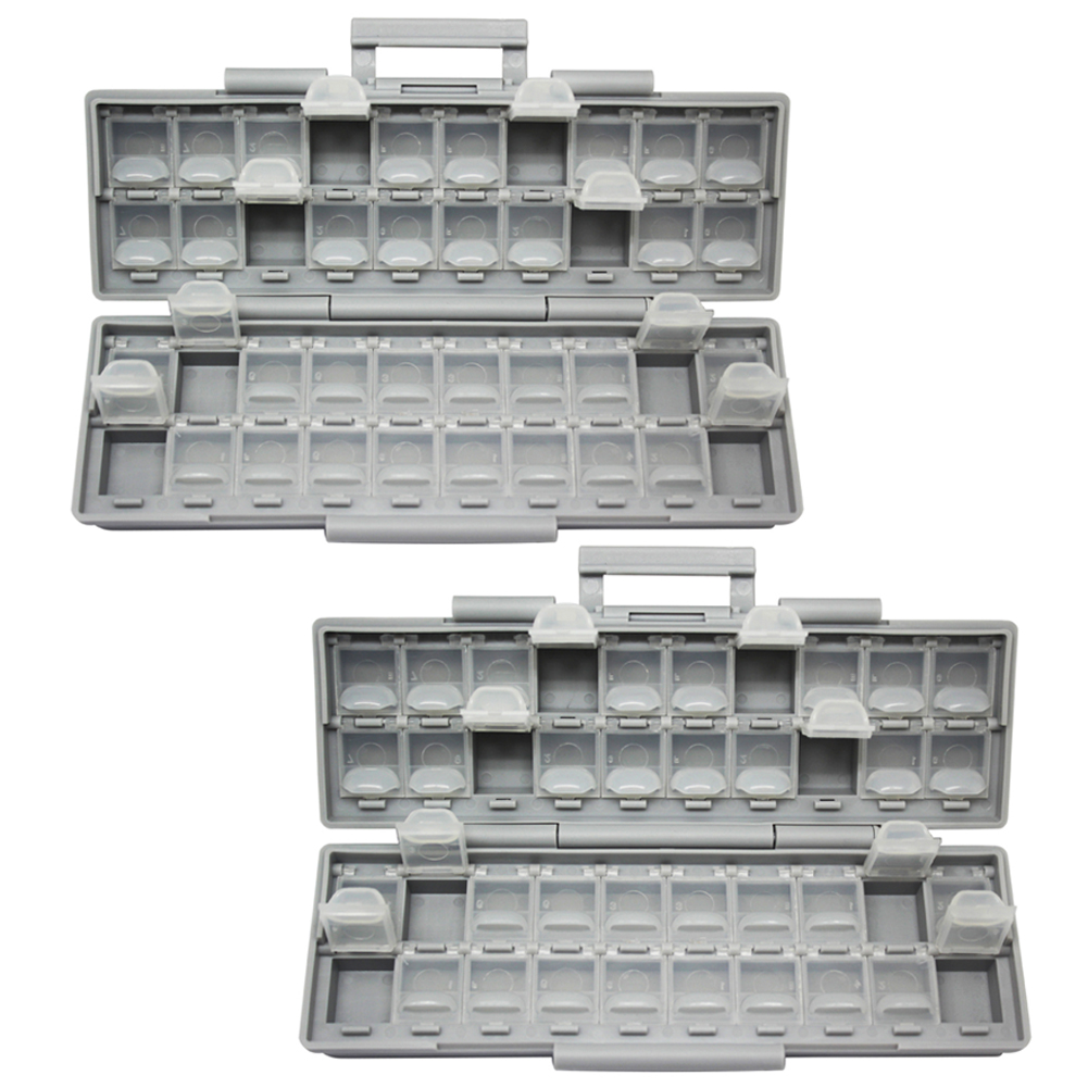 AideTek TWO Enclosure Surface Mount Components Assorted Resistor Capacitor Plastics Transparent Box Beads Storage 2BOXALL40