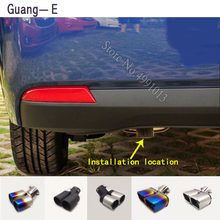 Para Chevrolet Lova 2006-2010-2018 adesivos de carro tubo de escape ponta silenciador extremidade do tubo exterior de volta dedicar tomada ornamento 1 pcs