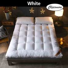 Chpermore Thicken Feather velvet Mattress five star hotel Foldable Tatami Single double Mattresses Cotton Cover King Queen Size(China)