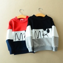 Children of foreign trade of cotton sweater color long sleeved T-shirt movement style all-match special free shipping