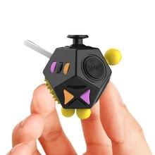 12 различных боковых кубик для отвлечения снятия стресса куб портативный разлагает игрушки для отдыха для взрослых детей