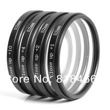 Macro Close Up Lens filtro + 1 + 2 + 4 + 10 Kit Filtro 49mm 52mm 55mm 58mm 62mm 67mm 72mm 77mm para canon nikon sony pentax dslr câmera