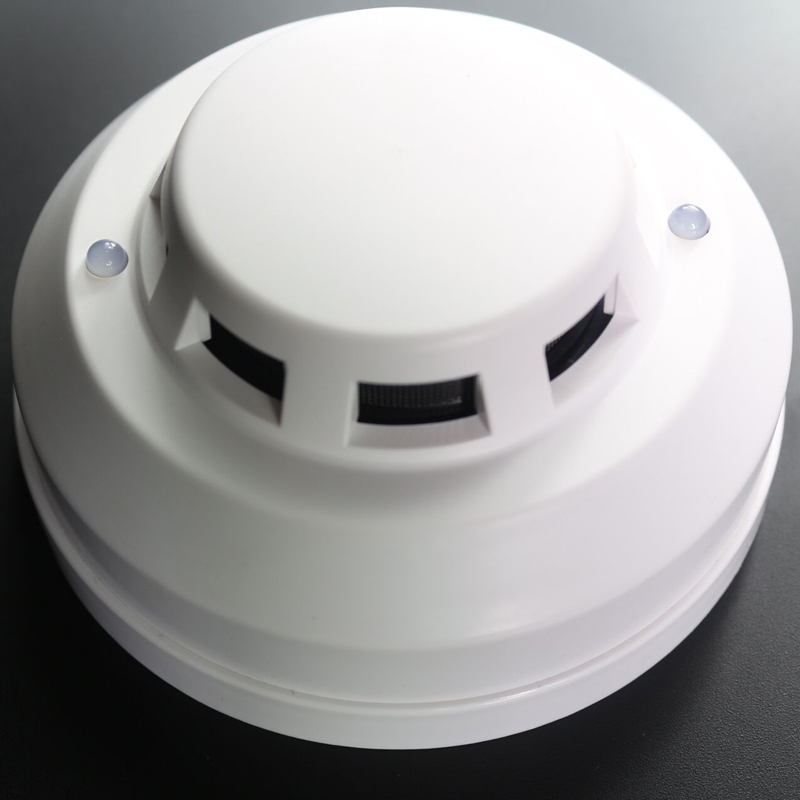 AC120-240V Smoke Detector 4 Wired Photoelectronic Smoke Sensor Fire Detector With Relay Output