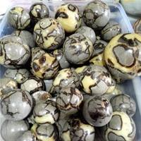 Wholesales Natural Dragon Stone Septarium Fossil Crystal Sphere Ball Healing Free shipping