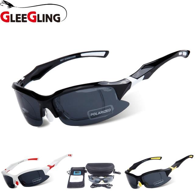 GLEEGLING New Mens Sport Sunglasses Clip on Zonnebril Polarized Sunglasses Lunettes  Polarisantes Gafas Polarizadas Pesca 68514f36cd3f