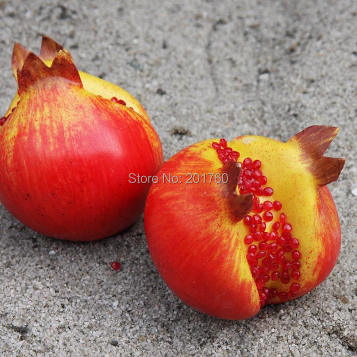 Decorative flowers artificial fruit increase weight for Artificial pomegranate decoration