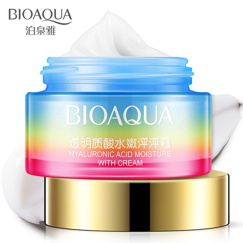 BIOAQUA Hyaluronic Acid Natural Face Cream Moisturizer Fragrance Facial Cream Whitening Skin Anti Aging Oil Control Skin Care