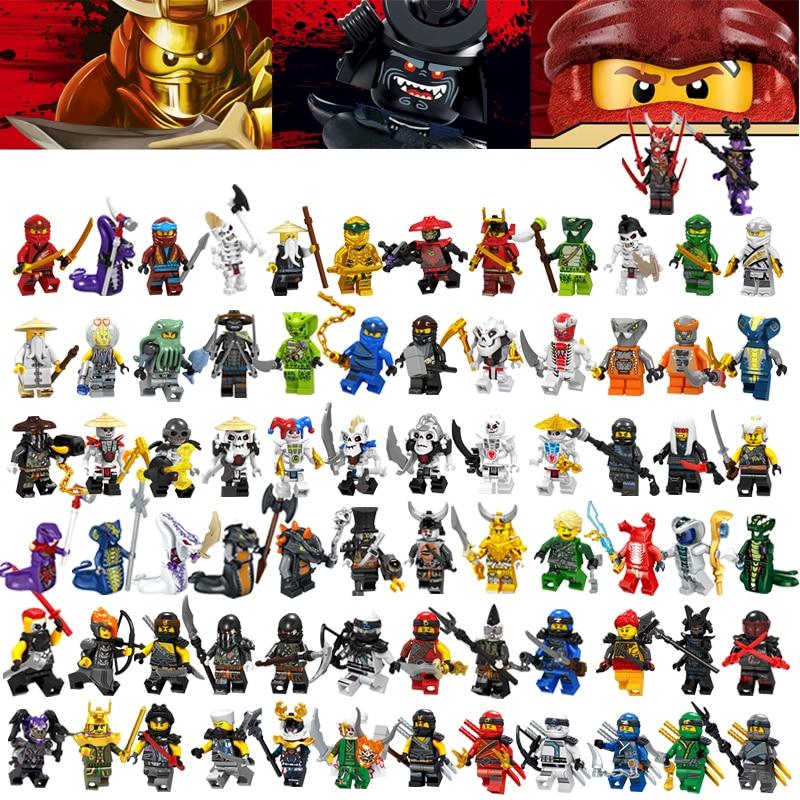 Ninjagoinglys Figures Frakjaw Garmadon Jay Zane Kai Lloyd Samukai Cole Harumi Pythor Nuckal Wu Building Block