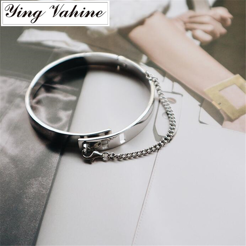 Authentic 925 Sterling Silver Jewelry Punk Style Cool Heavy Metal Wide Bangles for WomenAuthentic 925 Sterling Silver Jewelry Punk Style Cool Heavy Metal Wide Bangles for Women